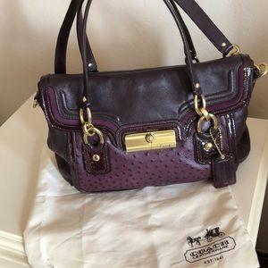 Coach Kristin Ostrich and leather purse